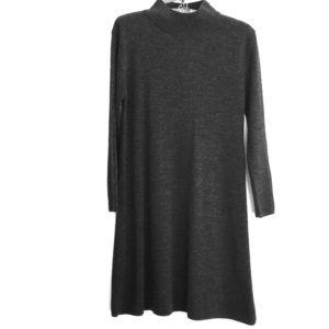 ASOS Mock neck sweater dress gray SZ 8